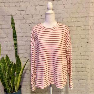 NWOT Aerie Slub Knit Long Sleeve Striped Top -Sz S
